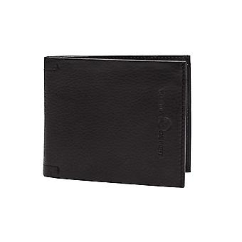 Luciano Barbera Club Pebbled Leather Wallet Black