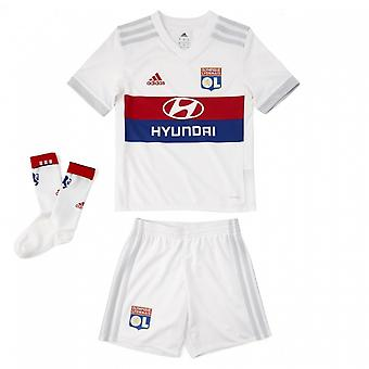 2018-2019 Olympique Lyon Adidas Home Little Boys Mini Kit