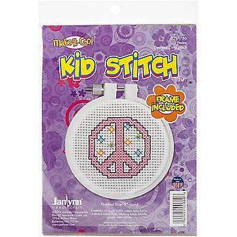 Kid Stitch Peace Mini Counted Cross Stitch Kit-3