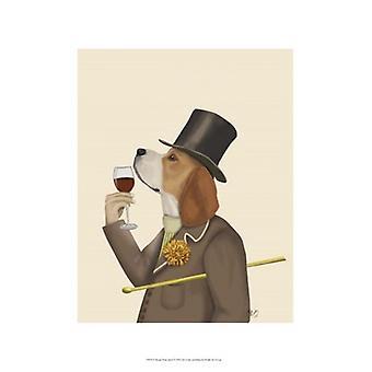 Beagle Wine Snob Poster Print by Fab Funky (13 x 19)
