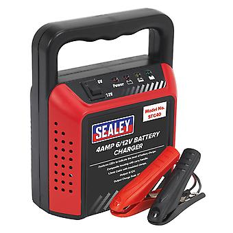 Sealey Stc40 Battery Charger 6/12V 4Amp 230V Automatic