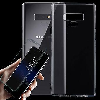 Für Samsung Galaxy Note 9 N960F Silikoncase Transparent + Schutz Folie Tasche Neu
