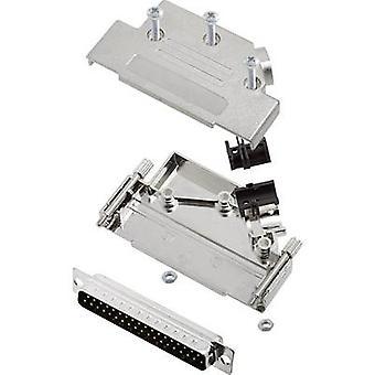 D-SUB pin strip set 45 ° Number of pins: 37 Solder bucket encitech D45PK-M-37-DBP-K 1 Set