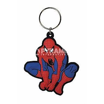 Spiderman Crouching Pvc Flexible Keyring