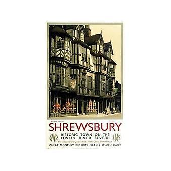 Shrewsbury (alte Schiene Ad.) Kühlschrank-Magnet