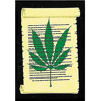 Cannabis On Parchment Large Textile Poster