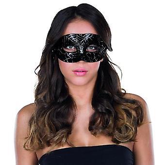 Accesorio de carnaval carnaval Halloween de Domino máscara araña patrón