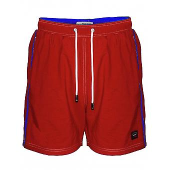 Paul & Shark Paul y tiburón rojo Swim Shorts