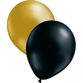 12-pack ballons noir/or