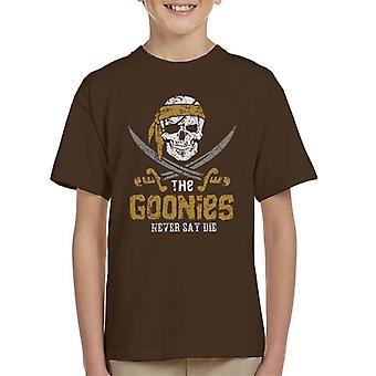 Goonies Skull Logo aldri si dø Kids t-skjorte