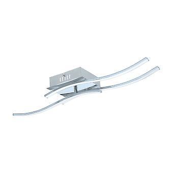 シーリング ライト波状 LED ライン、大型 Eglo Valmora クローム