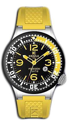 Waooh - Watches - Kienzle Poseidon Large (BLACK-YELLOW)