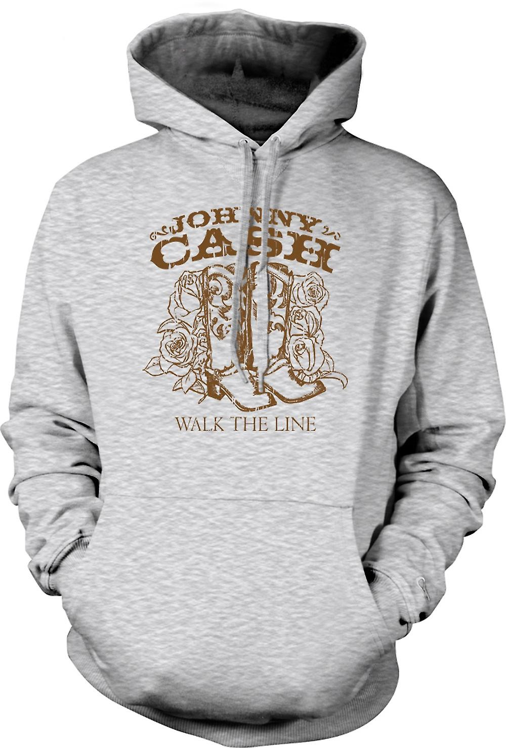 Mens Hoodie - Johnny Cash - Walk The Line