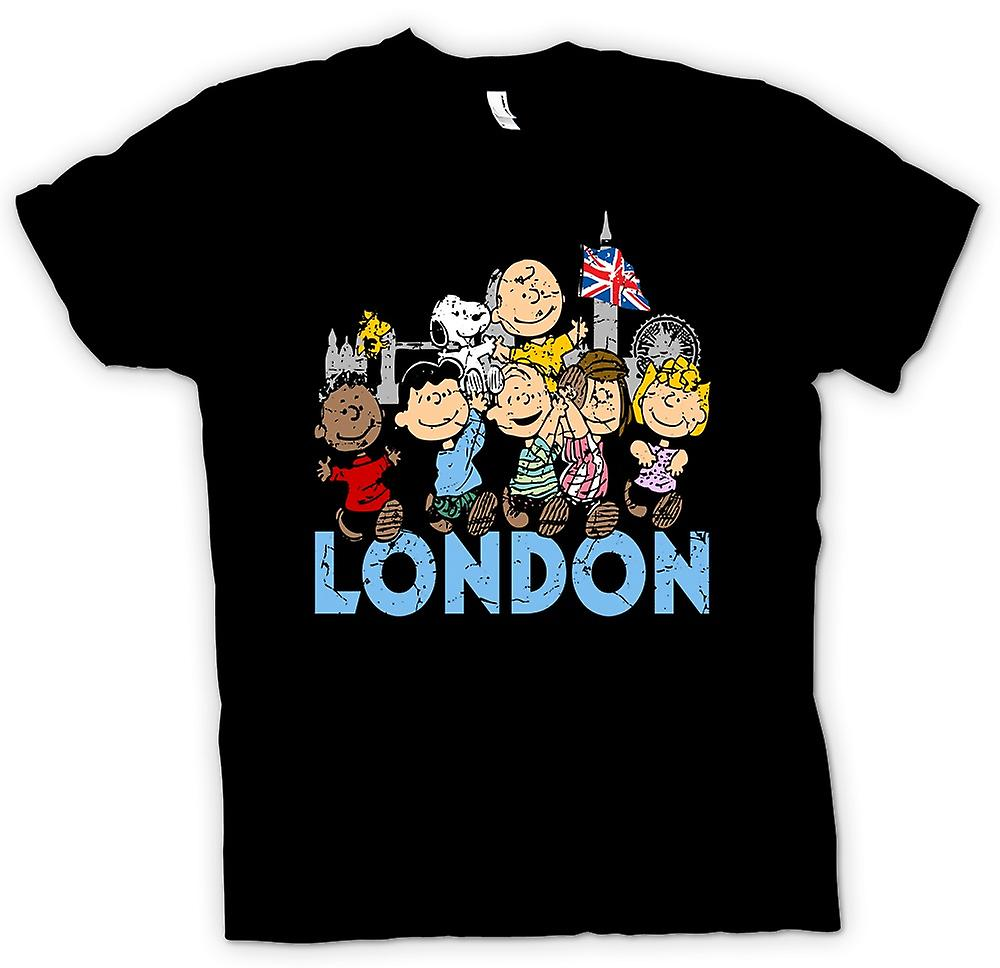 Mens T-shirt-Snoopy - Londres - Funny Cartoon