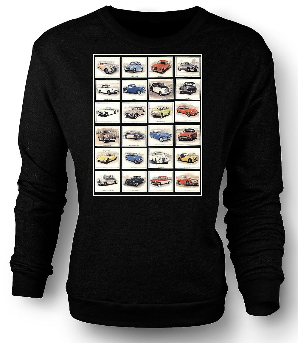 Mens Sweatshirt Classic Motor Car Collage - Poster