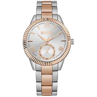 Missguided | Womens Two Tone Stainless Steel Bracelet | Silver Dial | MG006SRM Watch