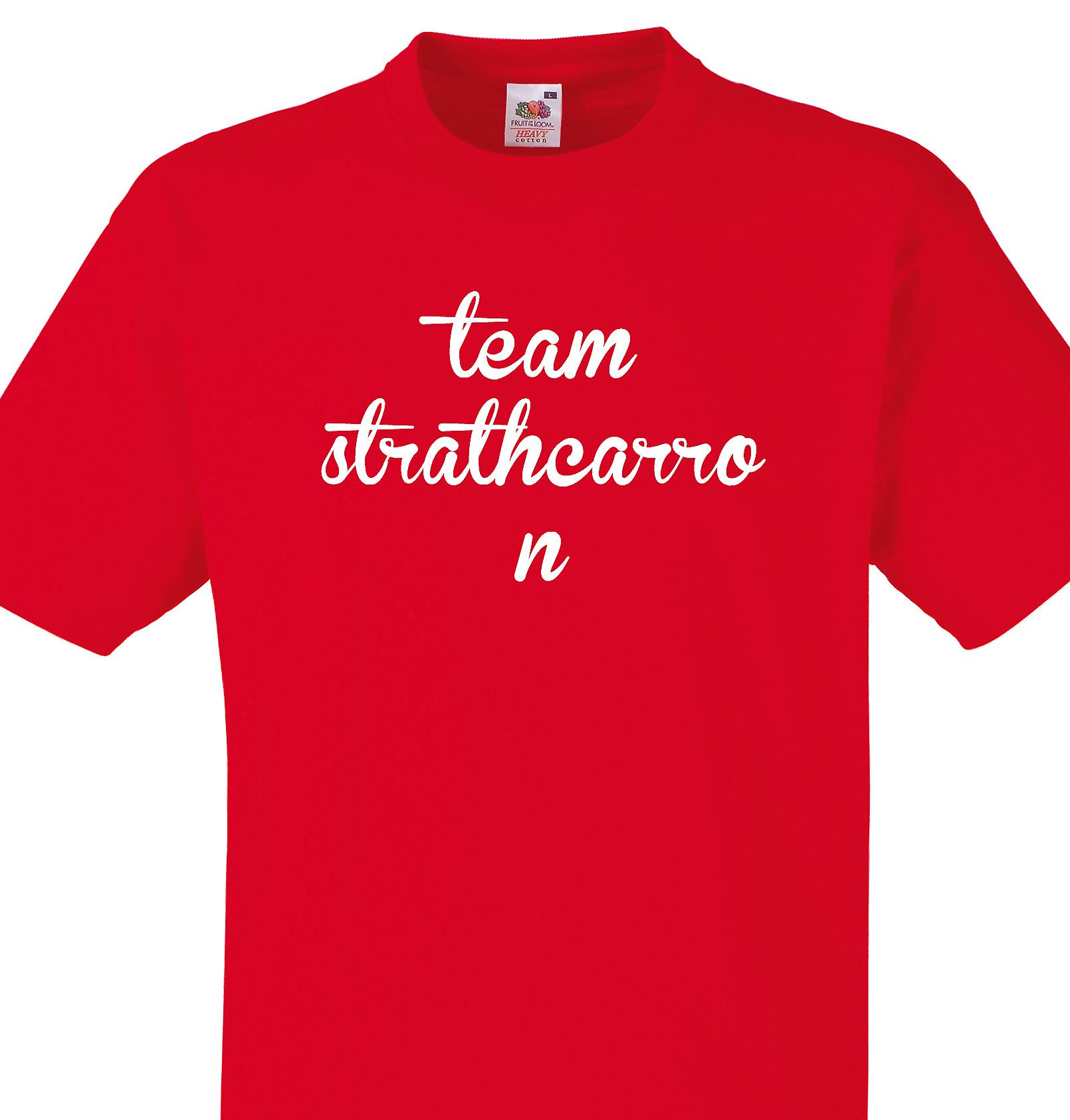 Team Strathcarron Red T shirt
