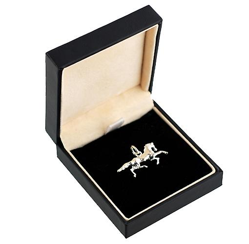 Silver 13x26mm Running Horse Pendant or Charm