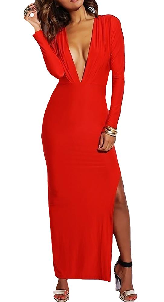 Waooh - split Dress with V neckline Lell