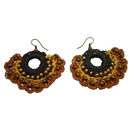 Shop Earrings Crochet Holiday Gifts In Gorgeous Yellow Brown Colors