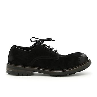 Dolce E Gabbana Black Leather Lace-up Shoes