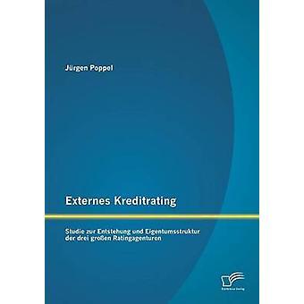 Externes Kreditrating Studie Zur Entstehung Und Eigentumsstruktur Der Drei Grossen Ratingagenturen by Poppel & Jurgen