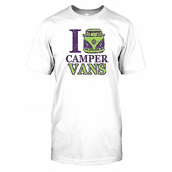I Love Camper Vans Mens T Shirt
