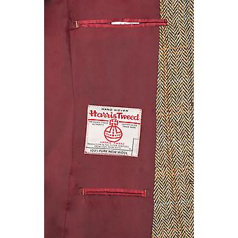 Harris Tweed Mens Brown Suit Jacket Regular Fit 100% Wool Windowpane Check
