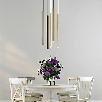 Modern Pendant Ceiling Hanging Lamp Kitchen Light Brass 5 Pendant Round Canopy