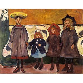 Four Girls,Edvard Munch,50x40cm
