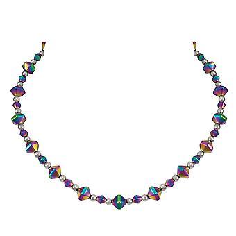 Eterna vivacidad arco iris hematites con cuentas collar de colección