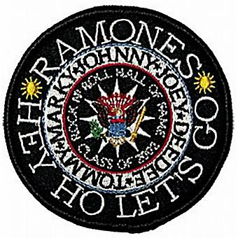 Ramones Hey Ho round sew-on patch  (mm)
