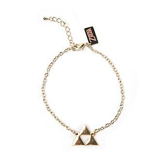 De Legend of Zelda polsbandje Triforce logo armband-goud (WB100407ZEL)