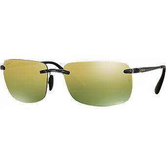 Ray - lucentezza Ban RB4255 Chromance grigio specchio oro verde polarizzata