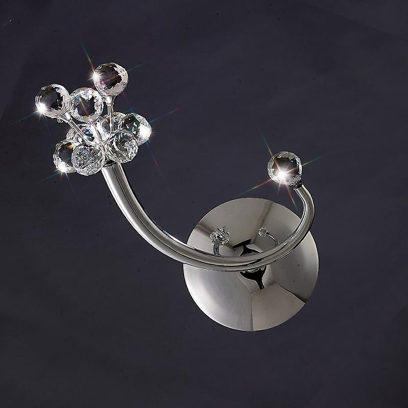 Octavia Wall Lamp Switched 1 lumière Right Facing Polished Chrome crystal