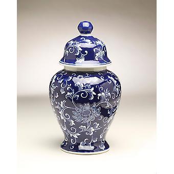 AA 59947 14 Zoll blaue & Weißer Ingwer Jar importieren