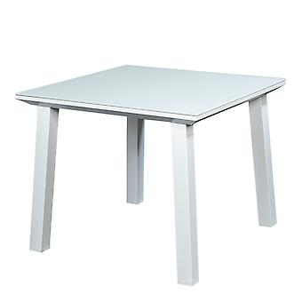Beach7 | Soho Glass Dinning Tafel 90x90 |  Wit | tuintafels
