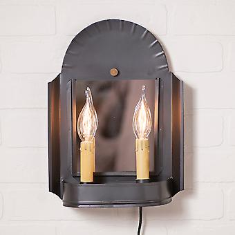 Irvin's Country Tinware Innkeeper's Sconce in Smokey Black