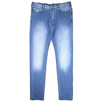 Emporio Armani J06 slim fit vasket jeans denim mid Blue 0942