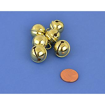 6 Gold 19mm Cat Bell Style Jingle Bells for Crafts | Craft Bells | Arts & Crafts