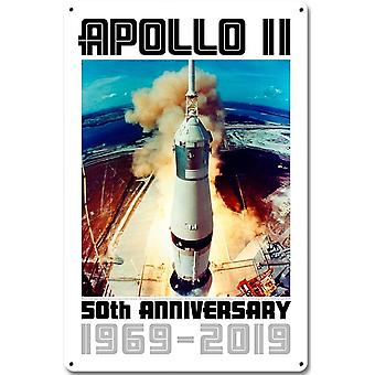 Apollo 11 Launch 50th Anniversary 1969-2019 metal sign  450mm x 300mm (pst 1812)