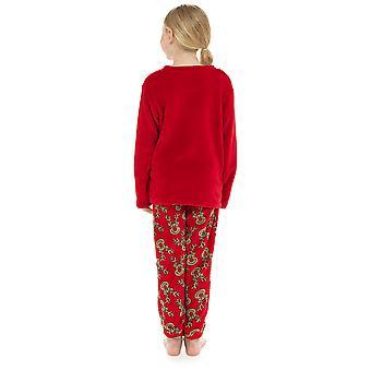 Barn nyhet reinsdyr fleece Pyjama sett