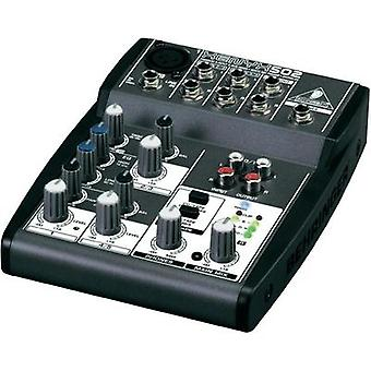 Mixing console Behringer BEHRINGER MISCHPULT XENYX 502 No. of channels:3