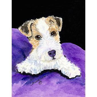 Fox Terrier Flag Garden Size