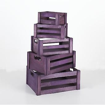 Kit Closet Set 5 Cajas Decoracion Lilas 89005