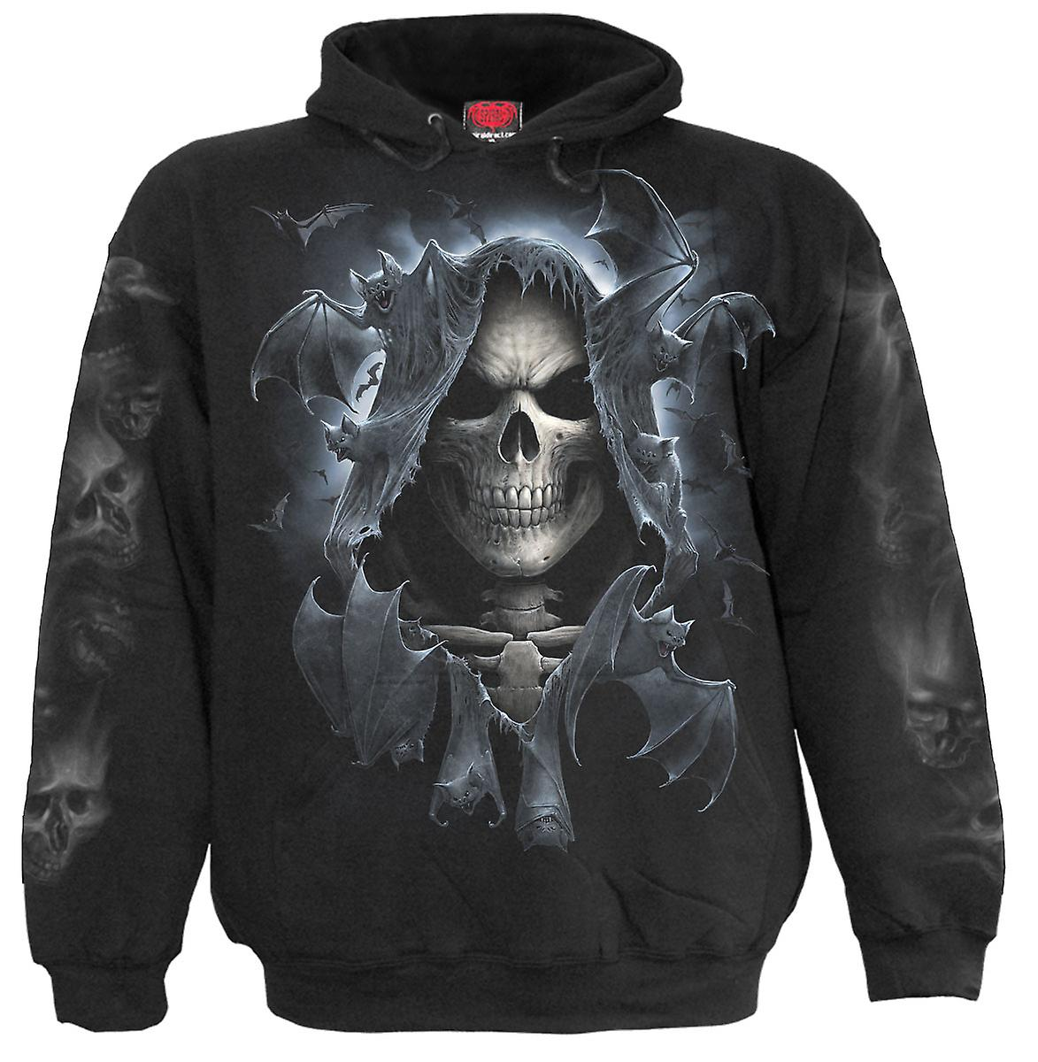 Spiral Direct Gothic REAPER BATS - Hoody Black|Death|Bats|Reaper|Skeleton