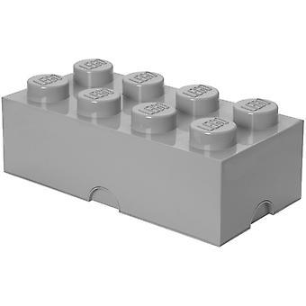 LEGO Aufbewahrungsbox: Backstein 8 (12 Ltr) grau Stein