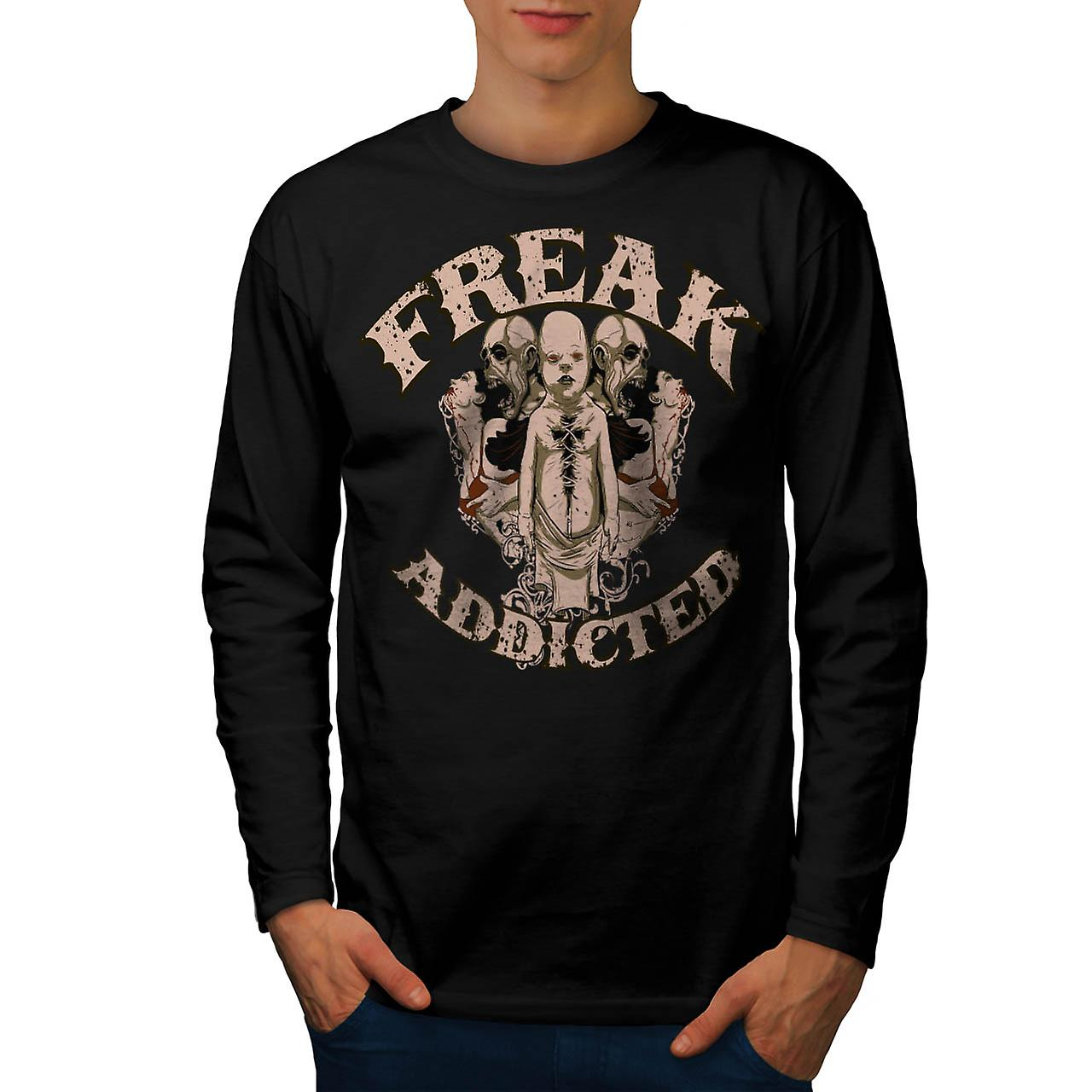 Freak Die Addict Baby Ghost Kids Men Black Long Sleeve T-shirt | Wellcoda