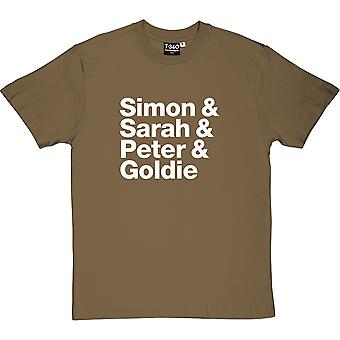 Simon and Sarah and Peter and Goldie Men's T-Shirt