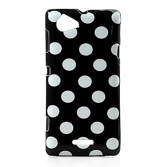 Protective cover for phone Sony Xperia L S36h black / white
